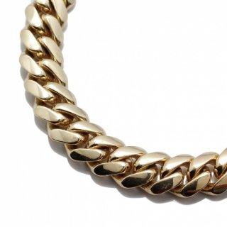 10K イエローゴールド ネックレス 幅10mm 52cm