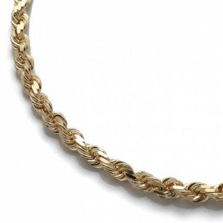 10K イエローゴールド ネックレス 幅5.5mm 51cm〜61cm