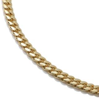 10K イエローゴールド ネックレス 幅4mm 40cm〜50cm