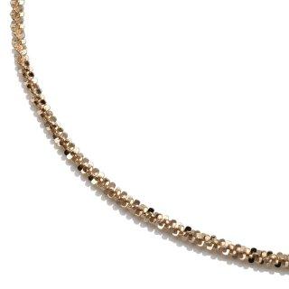 10K イエローゴールド ネックレス 幅2mm 35cm〜50cm