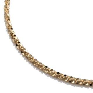 10K イエローゴールド ネックレス 幅3mm 40cm〜50cm