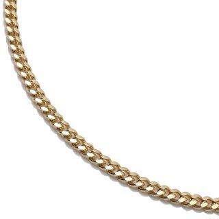10K イエローゴールド ネックレス 幅2.1mm 40cm〜60cm