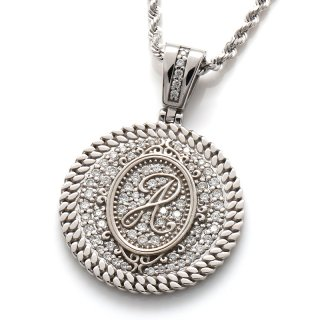 ダイヤモンド 10K ホワイトゴールド ペンダントヘッド