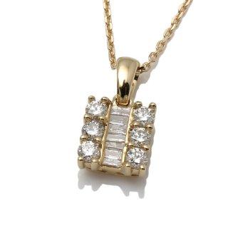 ダイヤモンド 10K イエローゴールド ネックレスセット 40cm