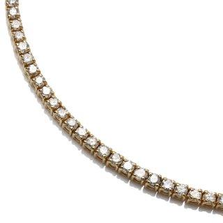 ダイヤモンド 10K イエローゴールド ネックレス 幅2.5mm 46cm