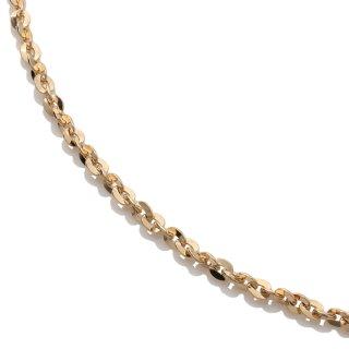 10K イエローゴールド ネックレス 幅2mm 40cm〜60cm
