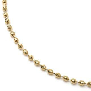 10K イエローゴールド ネックレス 幅2.2mm 45cm〜50cm
