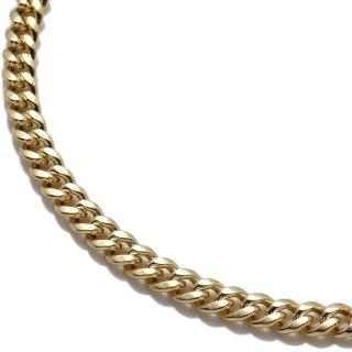 10K イエローゴールド ネックレス 幅4.5mm 40cm〜60cm