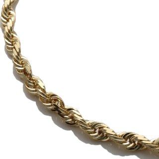 10K イエローゴールド ネックレス 幅4.5mm 51cm〜61cm