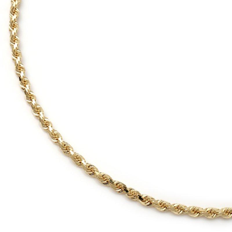 10K イエローゴールド ネックレス 幅2.2mm 45cm〜60cm