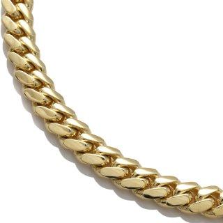 10K イエローゴールド ネックレス 幅6mm 45cm〜60cm