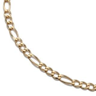 10K イエローゴールド ネックレス 幅3.8mm 45cm〜60cm