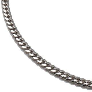 10K ホワイトゴールド ネックレス 幅3.2mm 50cm〜60cm