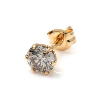 ダイヤモンド 18Kイエローゴールド ピアス