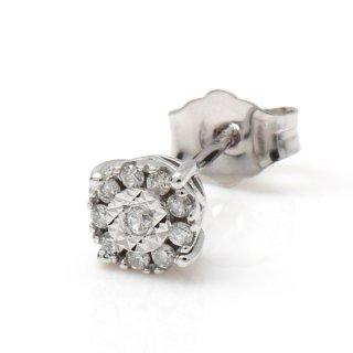 ダイヤモンド 10K ホワイトゴールド ピアス