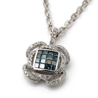 ダイヤモンド 14K ホワイトゴールド ペンダントヘッド