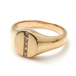 ダイヤモンド 10K イエローゴールド リング 11号