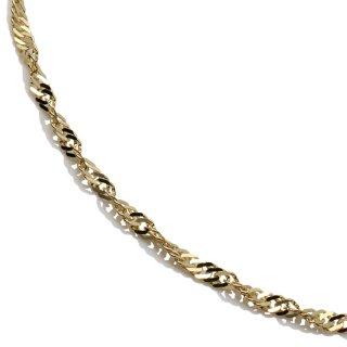 10K イエローゴールド ネックレス 幅2.2mm 40cm〜55cm