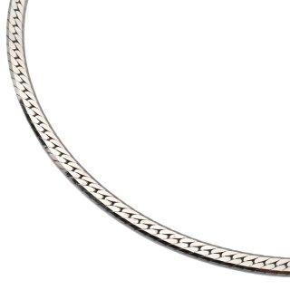 シルバー ネックレス 幅3mm 45cm