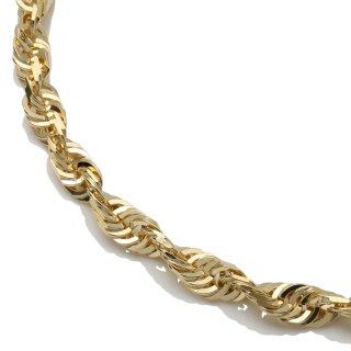 10K イエローゴールド ネックレス 幅5mm 50cm〜55cm