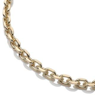 10K イエローゴールド ネックレス 幅5.2mm 45cm〜55cm