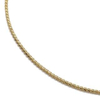 10K イエローゴールド ネックレス 幅1.3mm 40cm〜60cm