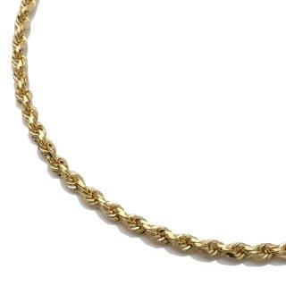 10K イエローゴールド ネックレス 幅3mm 50cm〜61cm