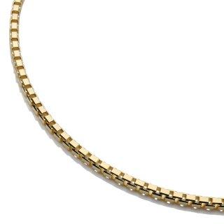 10K イエローゴールド ネックレス 幅2mm 55cm〜60cm