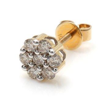 ダイヤモンド 10Kイエローゴールド ピアス