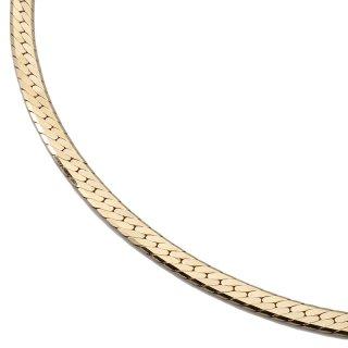 10K イエローゴールド ネックレス 幅3mm 35cm〜50cm