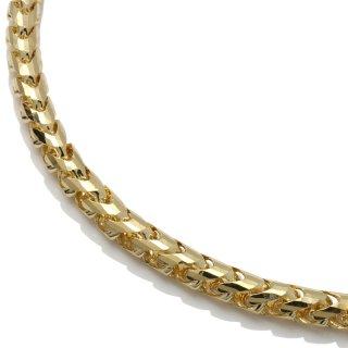 10K イエローゴールド ネックレス 幅4.5mm 50cm〜60cm