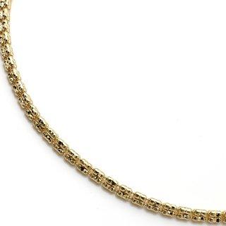 10K イエローゴールド ネックレス 幅2.5mm 46cm〜51cm