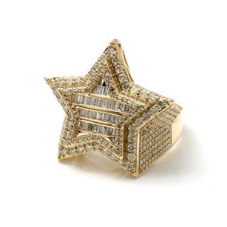 ダイヤモンド 10Kイエローゴールド リング 22号