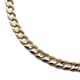 10K イエローゴールド ネックレス 幅5mm 46cm〜61cm