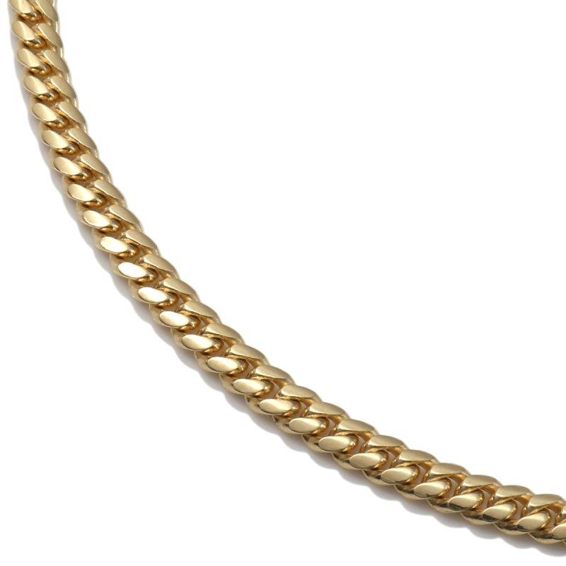 10K イエローゴールド ネックレス 幅3mm 51cm〜61cm