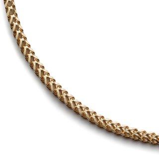 10K イエローゴールド ネックレス 幅1.5mm 45cm〜60cm