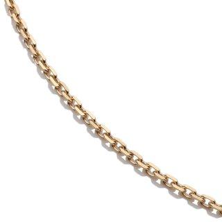 10K イエローゴールド ネックレス 幅1.5mm 40cm〜60cm
