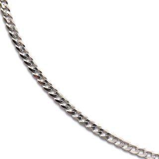 10K ホワイトゴールド ネックレス 46cm〜61cm