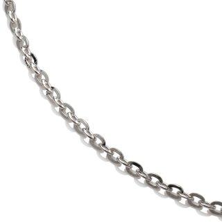 10K ホワイトゴールド ネックレス 幅2mm 45cm〜60cm