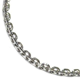 10K ホワイトゴールド ネックレス 幅1.5mm 40cm〜50cm