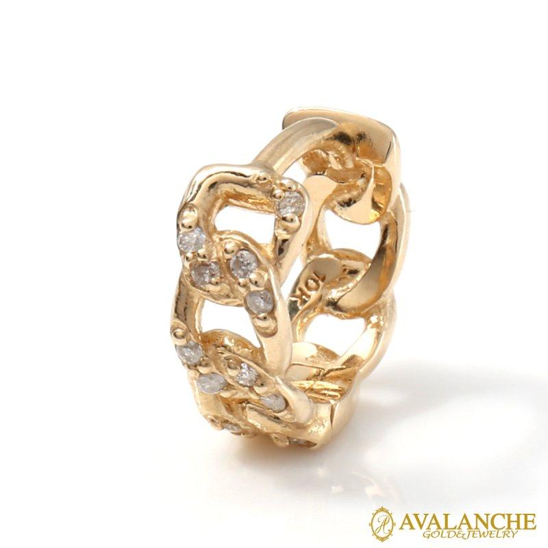 ダイヤモンド 10K イエローゴールド ピアス