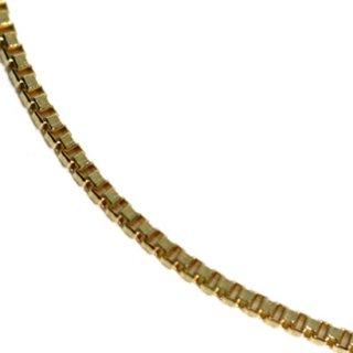 10K イエローゴールド ネックレス 幅0.5mm 40cm