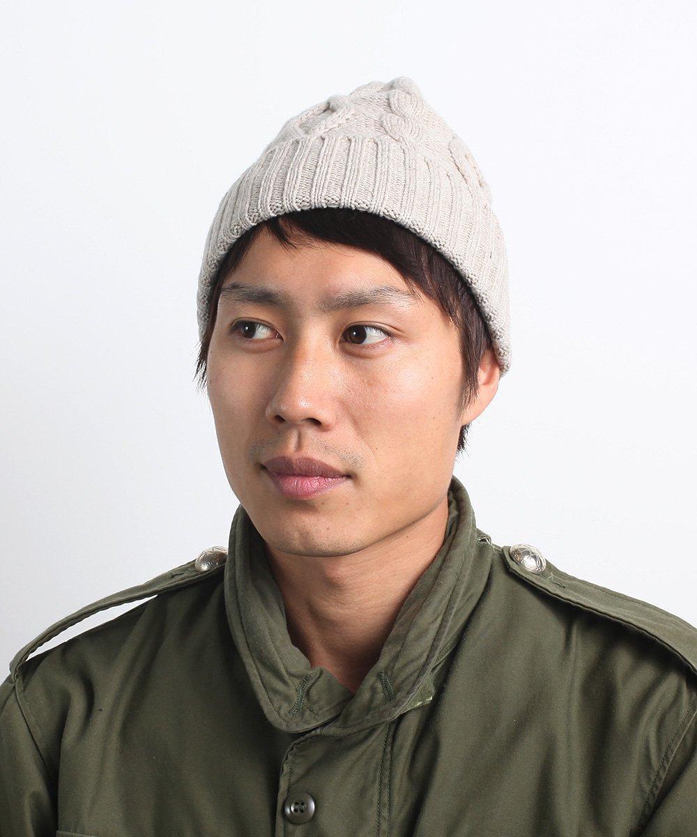 U-BRID WOOL CABLE WATCH CAP 詳細画像7