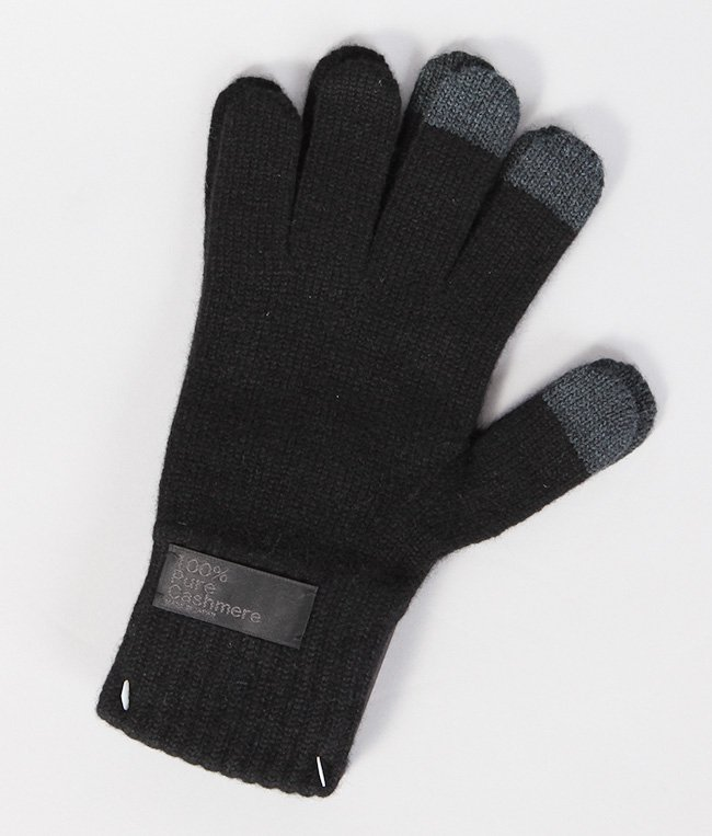 CASHMERE x LEATHER TOUCHPANEL GLOVE 詳細画像2