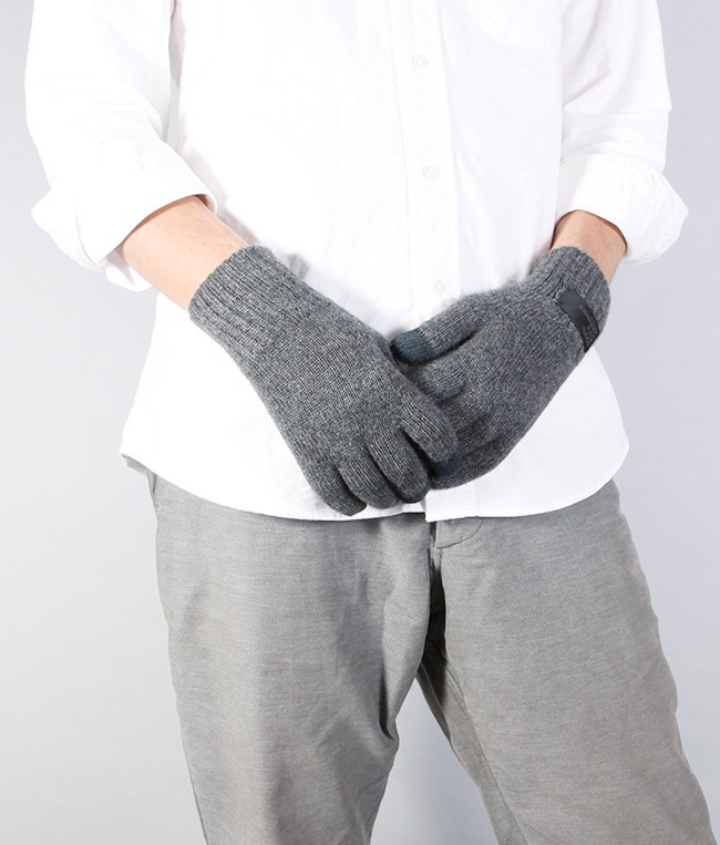 CASHMERE x LEATHER TOUCHPANEL GLOVE 詳細画像9
