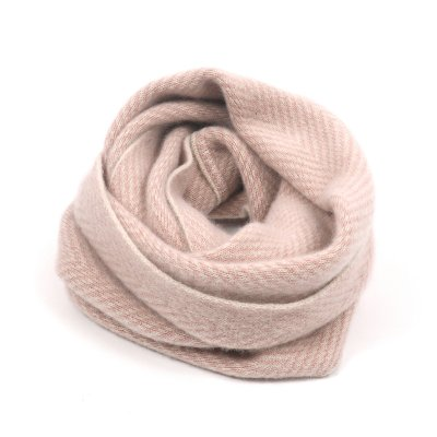 PURE CASHMERE HERRINGBONE TWISTSNOOD