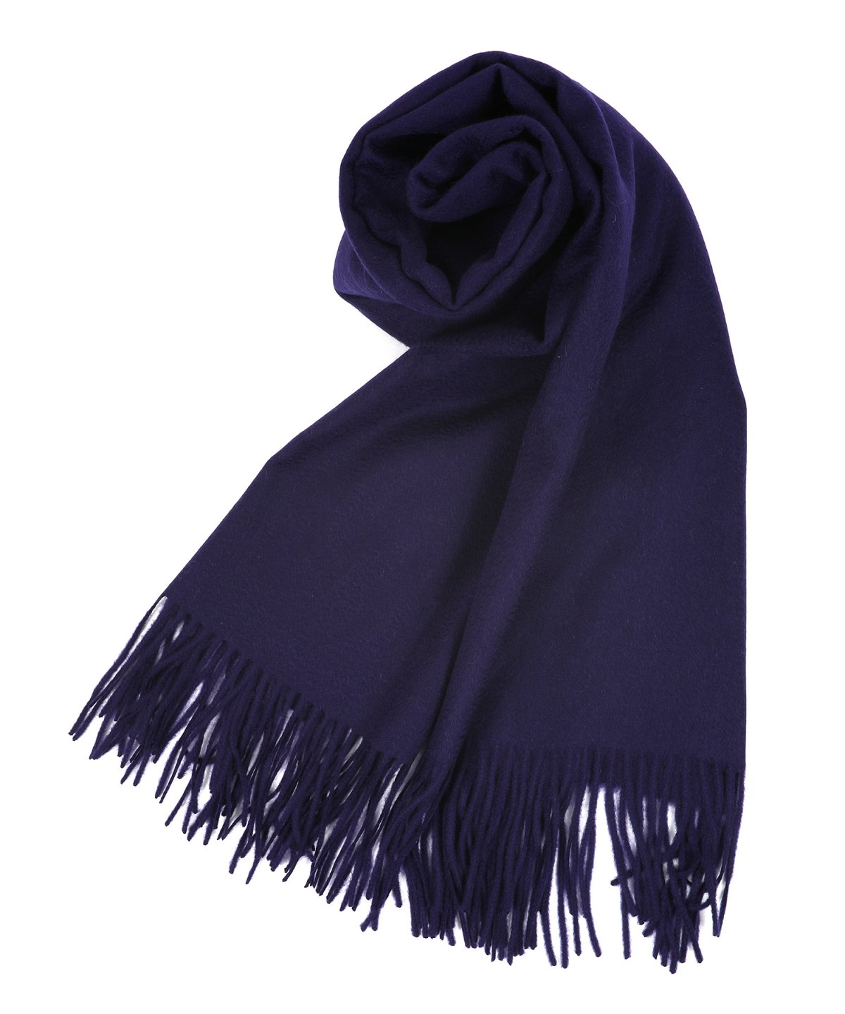 【SALE】- CASHMERE 100% - NAVY LARGE PLANE MUFFLER