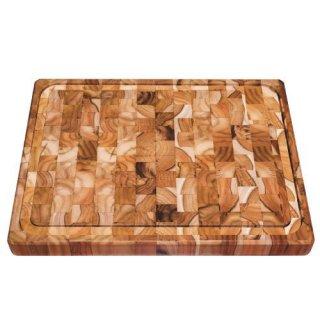 木製(チーク) カッティングボード 25cm×16cm COOKERY