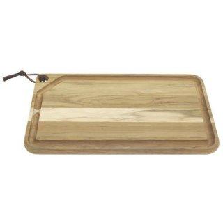 木製(チーク) カッティングボード 溝 49cm×28cm CHURRASCO