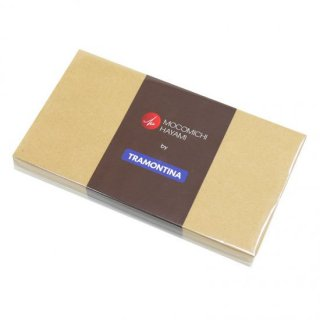 MOKOMICHI HAYAMI ポリウッド EU styleナイフ&フォーク ペア(4pc) 紙箱 ダークブラウン
